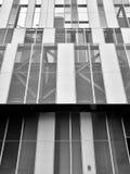 Metalu wzoru ściany perspektywa w czarny i biały Zdjęcia Royalty Free