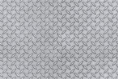 Metalu wzoru bezszwowa płytka, opakunek wokoło diamentowej stalowej tekstury emboss zdjęcia stock