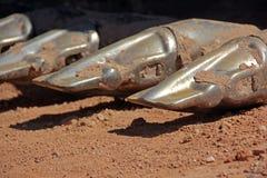 Metalu Zęby na Wiadrze Maszyny Ciężkie Miarka Fotografia Royalty Free