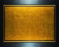 metalu złocisty talerz fotografia stock