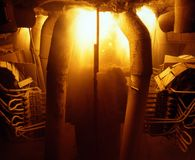Metalurgia industrial Fotografia de Stock