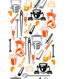 Metalurgiczny bezszwowy wzór Obrazy Royalty Free