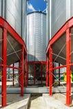 Metalware della base del silo per stoccaggio dei raccolti di grano Fotografia Stock