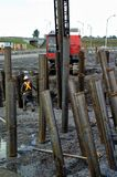 Metalwork для конструкции структуры дороги Стоковое Фото