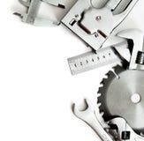 metalwork Agrafeuse, scie, clé et d'autres outils image stock