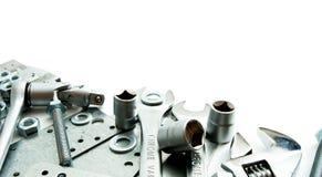metalwork Clé, lingot et d'autres outils dessus photos stock