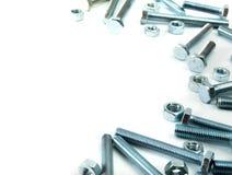 metalwork Dispositivo del metallo su un fondo bianco fotografie stock libere da diritti