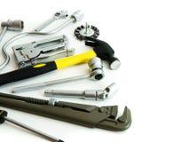 metalwork Młot, zszywacz i inny, narzędzia dalej Zdjęcie Stock