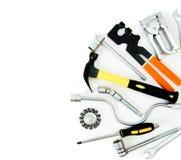 metalwork Marteau, agrafeuse et d'autres outils dessus photographie stock libre de droits