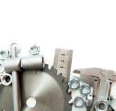 metalwork Spanner, ingot i inny, narzędzia dalej Obrazy Stock