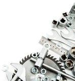 metalwork Spanner, ingot i inny, narzędzia dalej Fotografia Stock