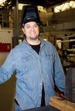 Metalworker na fábrica Fotografia de Stock Royalty Free