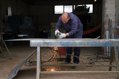 Metalworker at work Stock Photography