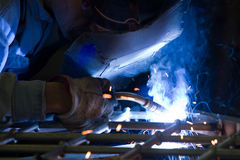 Metalworker in a workshop Royalty Free Stock Photography