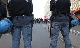 Metalworkers' general strike in Italy. Italian metal workers protesting against the economic policy of the Italian government during the general strike on March Stock Photography