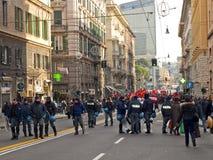 Metalworkers\' strike in Genoa Stock Photography