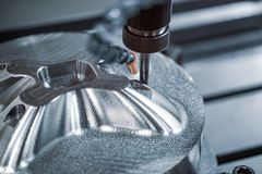 Free Metalworking CNC Lathe Milling Machine. Cutting Metal Modern Processing Technology Royalty Free Stock Image - 160977556