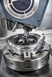 Metalworking CNC mielenia maszyna obraz royalty free