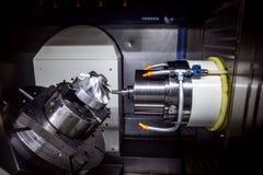 Metalworking CNC mielenia maszyna obraz stock