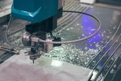 Metalworking CNC milling machine. Cutting metal modern processin. G technology stock photos