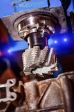 Metalworking CNC milling machine. Royalty Free Stock Photo