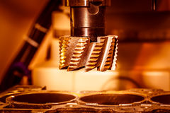 Metalworking CNC milling machine. Stock Image