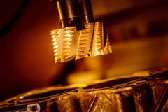 Metalworking CNC milling machine. Royalty Free Stock Photos