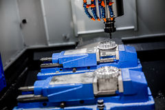 Metalworking CNC milling machine. Royalty Free Stock Photography