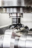 Metalworking CNC milling machine. Royalty Free Stock Image