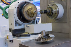Metalworking CNC is operating in demo mode Royalty Free Stock Images
