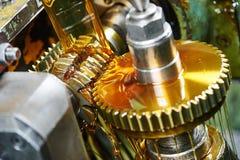 Metalworking: gearwheel machining Royalty Free Stock Photography