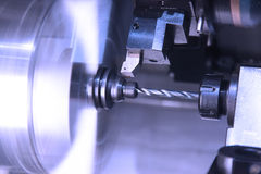 Metalworking industry: CNC lathe Royalty Free Stock Photography