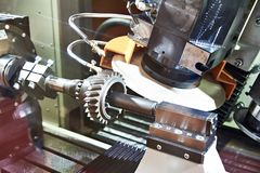Metalworking machine with grinding for gear. Metalworking machine with grinding wheel for gear stock photo