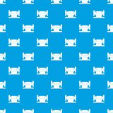 Metalworking machine pattern seamless blue. Metalworking machine pattern repeat seamless in blue color for any design. Vector geometric illustration Stock Photography