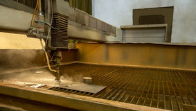 Metalworking. Machine for water jet cutting Royalty Free Stock Image