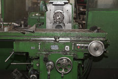 Metalworking machines working mechanisms Royalty Free Stock Images