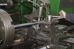 Metalworking machines working mechanisms Stock Image