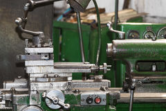 Metalworking machines working mechanisms Royalty Free Stock Photo