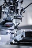 Metalworking milling machine. Cutting metal modern processing te Royalty Free Stock Image