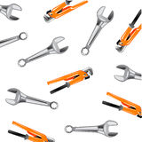 Metalworking tools on white. Key adjustable and usual on white background is insulated Stock Photography