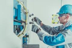Metalworkingtekniker Job arkivfoton