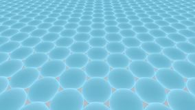 Metamaterials - 2D material - Graphene royaltyfri illustrationer