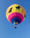 METAMORA,密执安- 2013年8月24日:热空气气球节日 免版税库存照片