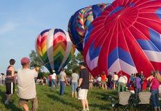 METAMORA,密执安- 2013年8月24日:热空气气球节日 库存图片