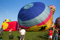 METAMORA, ΜΙΤΣΙΓΚΑΝ - 24 ΑΥΓΟΎΣΤΟΥ 2013: Ζεστός αέρας Ballo Στοκ φωτογραφία με δικαίωμα ελεύθερης χρήσης