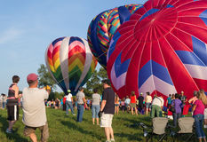 METAMORA, MICHIGAN - 24 AOÛT 2013 : Festival chaud de ballon à air Images stock