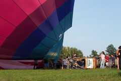 METAMORA, MICHIGAN - 24. AUGUST 2013: Heißluft-Ballon-Festival Lizenzfreie Stockbilder