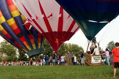 METAMORA, MICHIGAN - 24. AUGUST 2013: Heißluft-Ballon-Festival Stockfotos