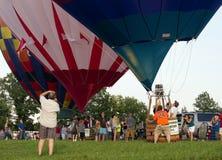 METAMORA, MICHIGAN - AUGUSTUS 24 2013: Het Festival van de hete Luchtballon Stock Afbeelding