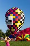 METAMORA, MICHIGAN - AUGUSTUS 24 2013: Hete Lucht Ballo Stock Afbeeldingen